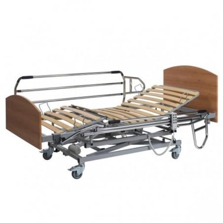 Cama articulada eléctrica con elevación vertical CLASSIC PLUS con barandillas