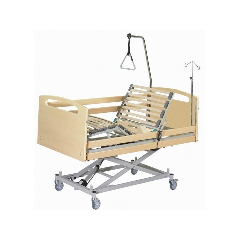 Cama articulada con carro elevador y barandillas integradas VARSOVIA