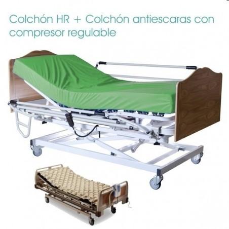 Cama eléctrica con carro elevador Pack Sevilla Complet Classic ECO + Colchón con compresor