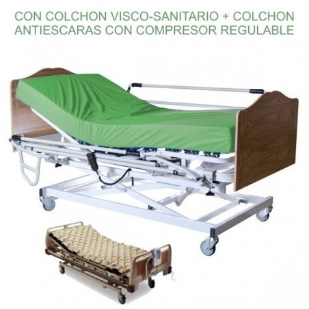 Cama articulada eléctrica con carro elevador Pack Sevilla Complet Classic+ COLCHON ANTIESCARAS