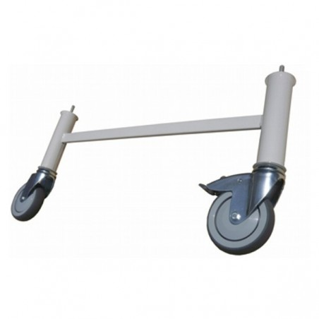 Conjunto de  4 patas con ruedas para camas articuladas